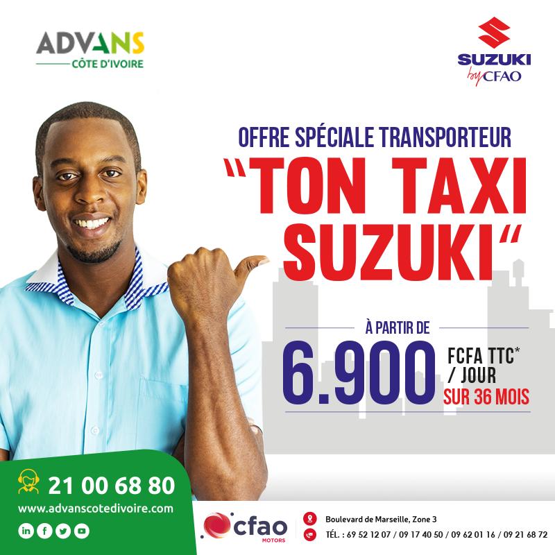 Achète ton taxi à partir de 6.900 FCFA par mois avec ADVANS