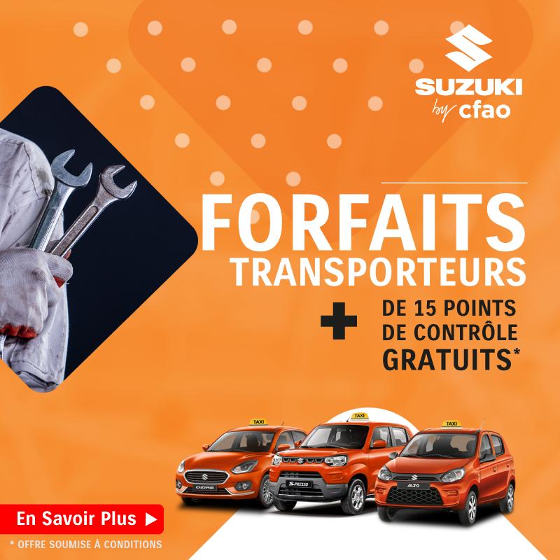 Offre d'entretien transporteur à partir de 22.500 FCFA + 15 points de contrôle gratuits