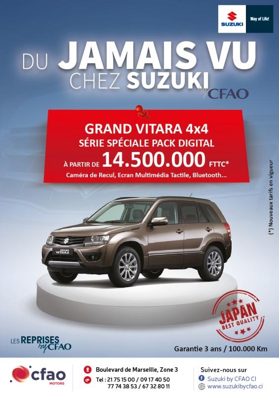 Du jamais vu chez Suzuki!