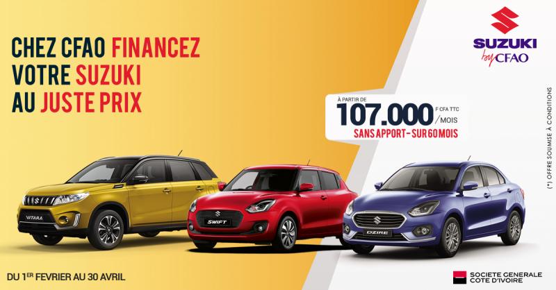 Faites financer votre Suzuki avec la SGCI