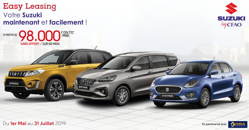 Easy Leasing: Acquérez un véhicule neuf à partir de 98.000 FCFA par mois